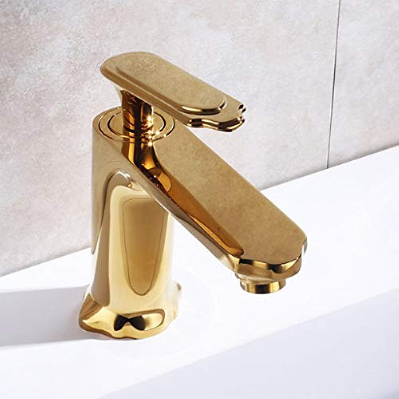 SUA_ONG Küchenarmaturen Kitchen Sink Wasserhhne Wasserhahn Chrom Schwenkauslauf Kitchen Sink Mischbatterien, Edelstahl 304 mit massiver Messingkonstruktion (Farbe   Gold)