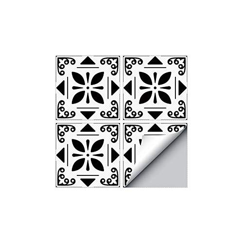 4 Piezas Moderno Autoadhesivo Cuadrado pelar y Pegar Antideslizante Impermeable PVC extraíble baño Cocina decoración del hogar Pegatina para baldosas de Suelo