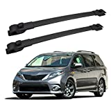 FengYu Roof Rack Cross Bars for 2011-2020 Toyota Sienna, Aluminum Clamps & Crossbars, Cargobar Rooftop Rails Carrying Bag Luggage Canoe Bike Kayak Carrier