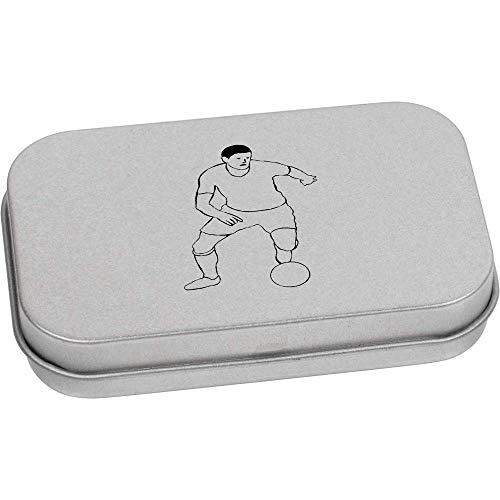 Azeeda 80mm x 50mm 'Fußballer' Blechdose / Aufbewahrungsbox (TT00099522)