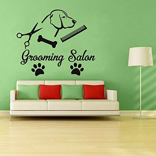 yaonuli Huisdier Persoonlijkheid Muursticker Vinyl Decoratie Hond Puppy Verzorging Schaar Huisdier Winkel Verwijderbaar