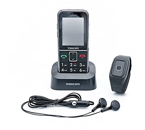 SENIORENHANDY SOS GPS FERNORTUNG! (Firmware 2021) Notrufarmband Powered by G-TELWARE® Handy, mit FUNKARMBAND, DEUTSCHES MENÜ