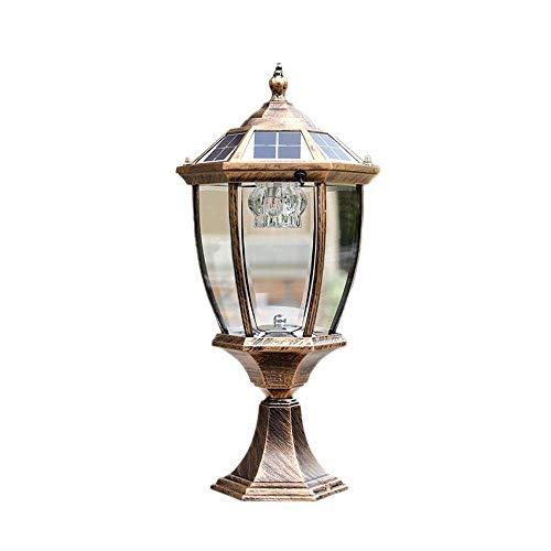KMYX energiebesparende led-lantaarns van helder glas, lampenkap voor buiten, gegoten aluminium, traditioneel buitenshuis, uniek, buitenzuil
