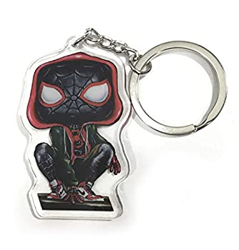 JEREMY WORST | Miles Funko Pop Morales KeyChain Spiderman | Poster Canvas Wall Art Marvel Comics Movie Enter The Spider Verse Falling Wall Poster sticker pin City New York