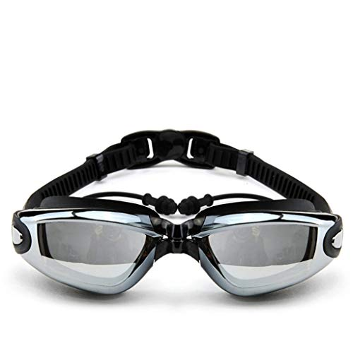WZHONG Swimming Goggles for Men Women Adults - Best Non Leaking Anti-Fog UV Protection Clear Vision (Color : Silver)