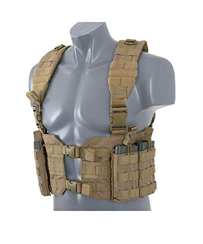 8FIELDS Split Front Harness Chest Rig Lightweight Vest Light Kampfweste Airsoft Paitball