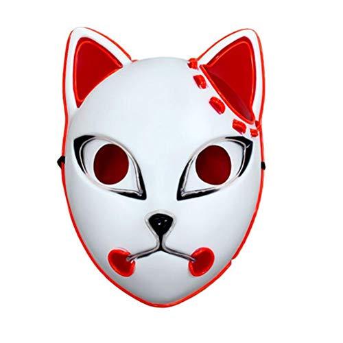 Tixiyu Mscara de anime demonio slayer con LED, accesorio para disfraz de cmic, para nios y adultos