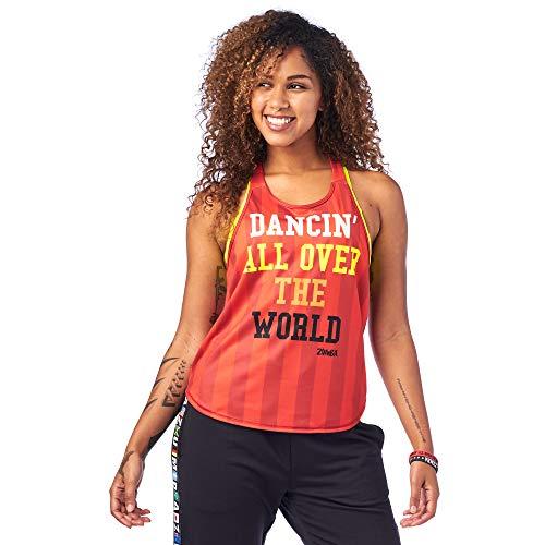 Zumba Fitness Damen Zumba Active Backless Dance Fitness Open Back Workout Tank Tops for Women Hemd, Wirklich Red-Y, L