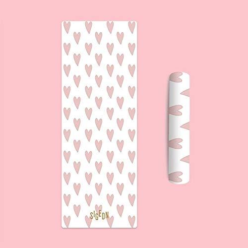 LOMAX Durevole Yoga Mat, Gomma Naturale Fata Slippery Yogitoes Yoga Mat, Terroir Stampa Cute Girl Yoga Mats Principiante (Color : Girls Heart+Free Yoga Bag, Size : 4mm)