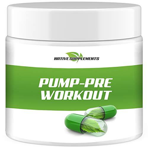 PUMP Pre Workout Booster - Beste Preis-Leistung - Hardcore Gaming & Muskelaufbau Pulver - im leckeren Orangen Geschmack - 100% rein, Testosteron Booster mit Beta Alanin
