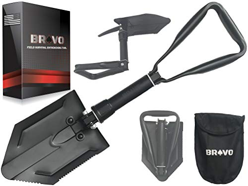 Military Folding Shovel - Profits for Anti Child Trafficking Operations - Heavy Duty Mini Shovel w/ Pick – Foldable Shovel for OffRoad Emergency - Camping Shovel Folding Multitool - Collapsible Shovel