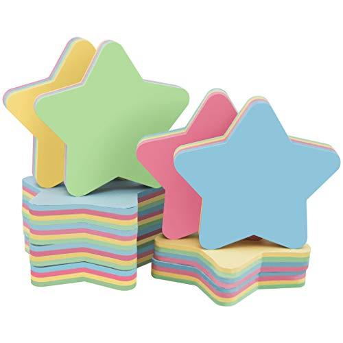 Zelfklevende notities - Multi-Shape Kleurrijke Sticky Memo A3 Size 3x3inch/7.5x7.5cm Tape Vlag Pad Sticker Gevormde Notitieblok voor Studenten/Thuis/Kantoor 1000 Vellen 3