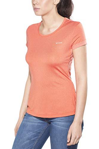 Columbia T-shirt Femme, PEAK TO POINT NOVELTY SHORT SLEEVE, Polyester, Orange (Zing), Taille: S, AK1492