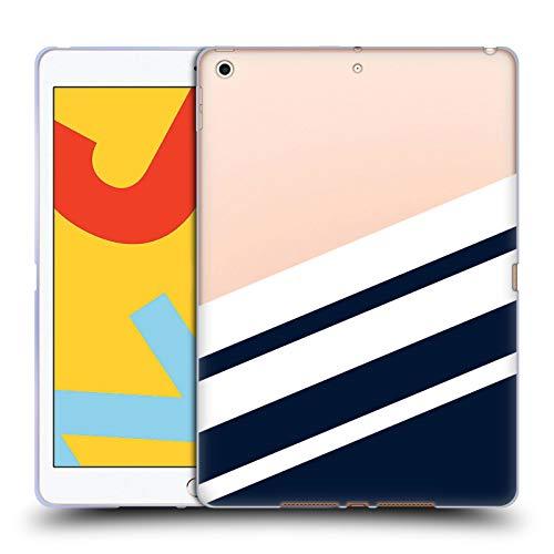 Head Case Designs Ufficiale Nicklas Gustafsson Navy Textures 2 Cover in Morbido Gel Compatibile con iPad 10.2 (2019)