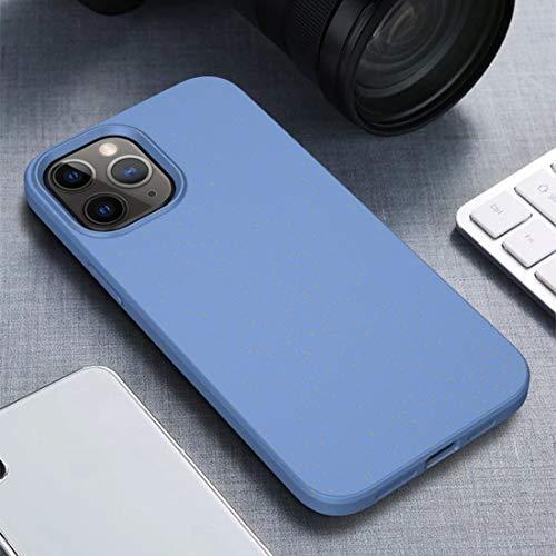 CAPOOK For el Caso Protector de TPU Serie Estrellada iPhone 12 Minifalda a Prueba de Golpes de Paja Real + Lentejuelas de la Caja del teléfono (Color : Blue)