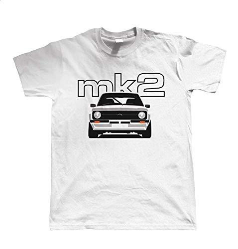 Mk2 Escort Classic Car Mens T-Shirt XL White