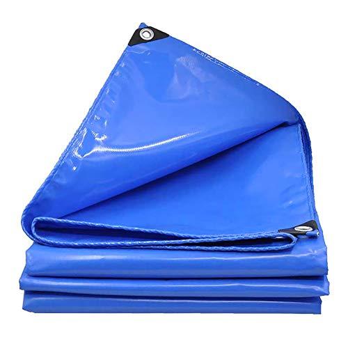 WDXJ Toile de Protection imperméable Haute bâche PVC Bleue Bâches Trois Toiles de bâche résistantes Anti-déchirures auvent en Tissu, 600 g/m² (Taille : 5x5M)