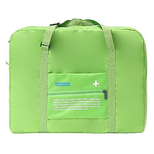 Leadrop - Borsone pieghevole da viaggio, impermeabile, per viaggi, vacanze, shopping, weekend, palestra, colore: verde erba