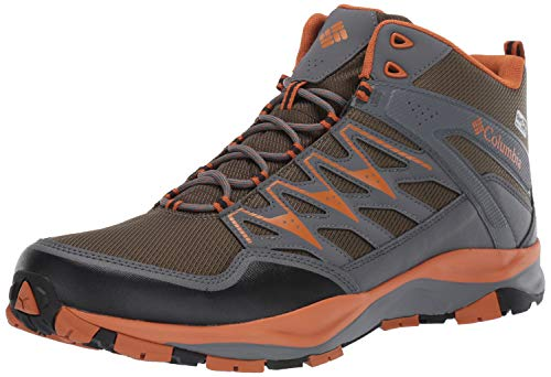 Columbia Men's WAYFINDER MID Outdry Hiking Boot, nori, bright copper, 9.5 Regular US