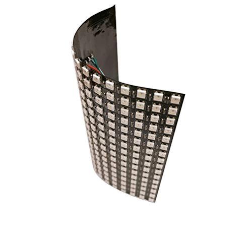 RongWang Tira de Matriz de LED, luz de píxel, 16x16, lámpara DIY, lámpara táctil WiFi, Flexible, Digital, Flexible, direccionable, Tira de luz WS2812B RGB DC5V (Color : 16x16 led Matrix)