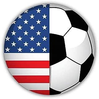 JJH Inc Magnet USA Flag Soccer Ball Flexible Vinyl Magnet Waterproof Car Magnetic Bumper Sticker 5