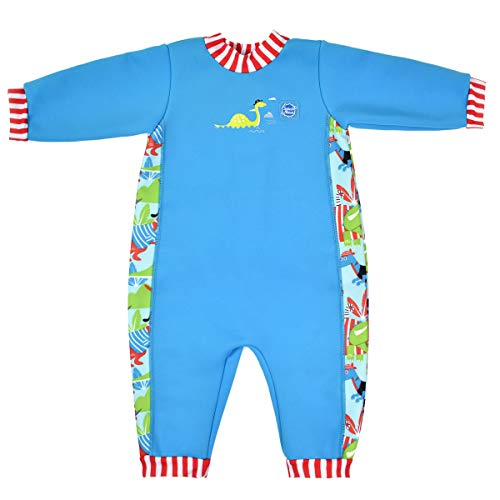 Splash About Warm In One Traje húmedo, Unisex bebé, Dino Pirates, 12-24...