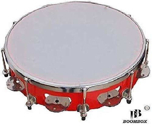 BOOMBOX Fibre Dafli Tambourine Random colour 10 inch Hand Percussion Musical Instrument