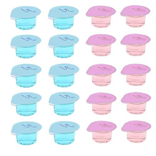 LAANCOO Enjuague bucal Tire Cleaner Portable Oral a refrescar el Aliento Enjuague bucal líquido Gum Salud Oral Dientes Blanqueamiento de higiene bucal 20PCS Aliento de refrescamiento