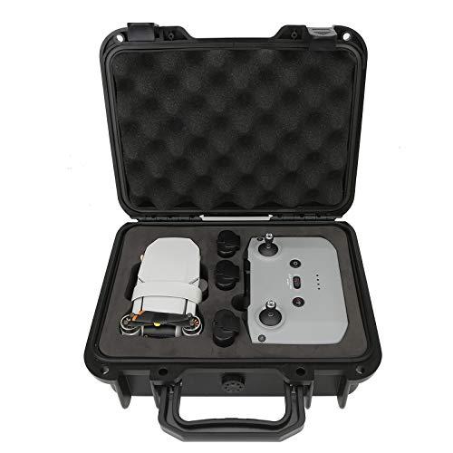 DJFEI Harter Tasche Tragetasche Handtasche für DJI Mini 2, Tragbare Kompakt wasserdichte Koffer für DJI Mavic Mini 2 Drohne und Fernbedienung, 3 Batterien