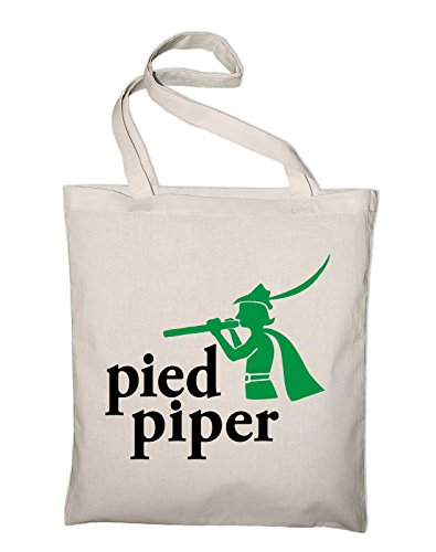 Styletex23 Pied Piper Silicon Valley Logo Jutebeutel Baumwolltasche, natur