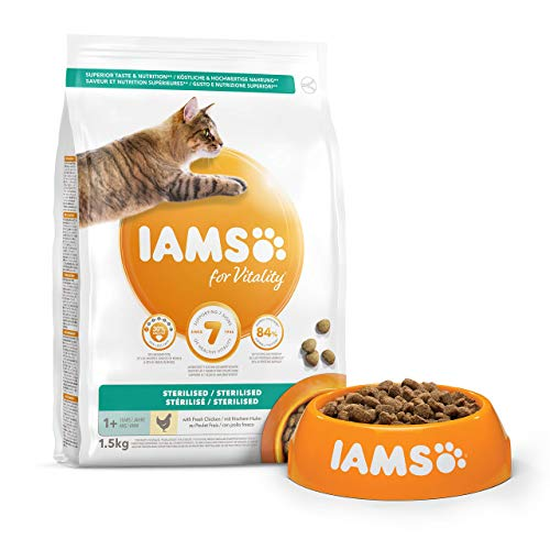 IAMS for Vitality Light in Fat/Esterilizado Alimento para gatos con pollo fresco [1,5 kg]