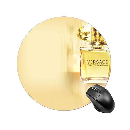 Poufny żółty diament perfumy podkładka pod mysz na biurko i laptopa 1 opakowanie okrągła podkładka pod mysz