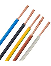 Bedradingskabel - H07V-K - 4mm² 6mm² 10mm² 16mm² - zwart, blauw, groen geel, grijs, bruin, ***meterproduct *** - PCV enkele aders fijndradig, 6mm² groen geel