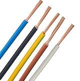 Verdrahtungsleitung - H07V-K - 4mm² 6mm² 10mm² 16mm² - schwarz, blau, grün gelb, grau, braun, ***Meterware*** - PCV Einzelader feindrähtig, 10mm² Schwarz