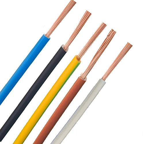 Verdrahtungsleitung - H07V-K - 4mm² 6mm² 10mm² 16mm² - schwarz, blau, grün gelb, grau, braun, ***Meterware*** - PCV Einzelader feindrähtig, 10mm² Blau