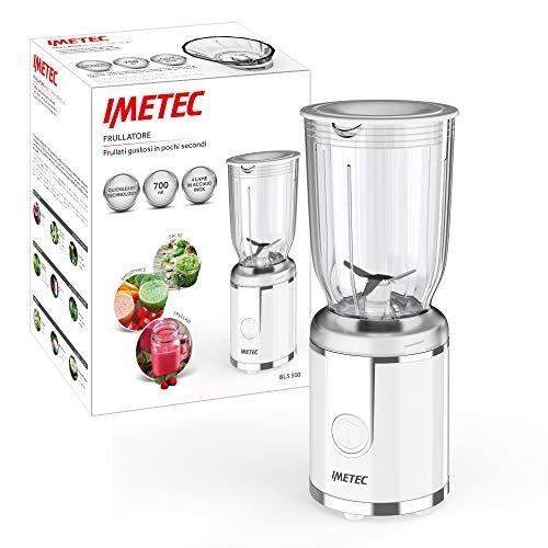 Imetec BL3 300 Frullatore Compatto, Bicchiere in Plastica BPA Free, Capacità 700 ml, Coperchio Dosa Liquidi, 250 W