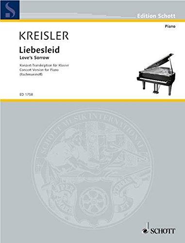 Alt-Wiener Tanzweisen: Nr. 2 Liebesleid. Klavier. (Edition Schott)