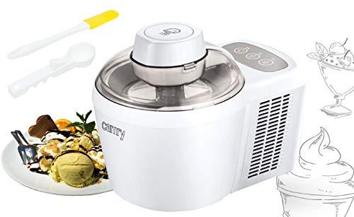 Thermoelektrische Eismaschine | Fertiges Eis in 30 min | 3-Touch-Display | 90 Watt | Frozen Joghurt Maschine | Eismaker | Icemaker | Eiscreme | Speiseeis | Sorbet Maschine | Ice Cream Maker