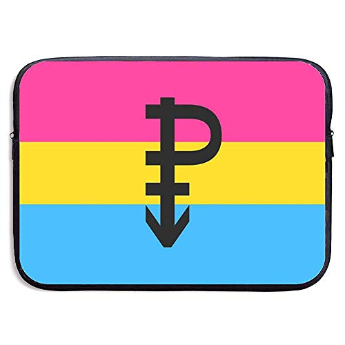 Panseksuele Pride Vlag met P Waterdichte Draagbare Laptop Computer Mouwen