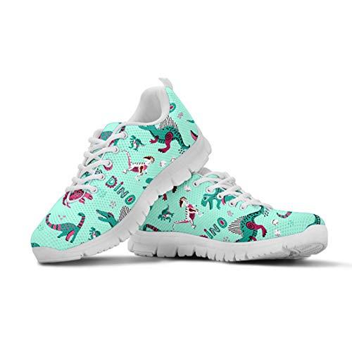 HUGS IDEA Mocasines casuales para caminar, con flores de animales, para correr, para entrenamiento, para correr, para deportes, color, talla 35.5 EU
