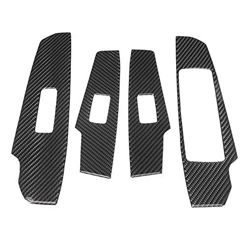 BTOEFE 4 Stück Kohlefaser Fensterheber Schalter Panel Abdeckung Trim, für Lexus IS250 IS350 2014 2015 2016 2017 2018 Autozubehör