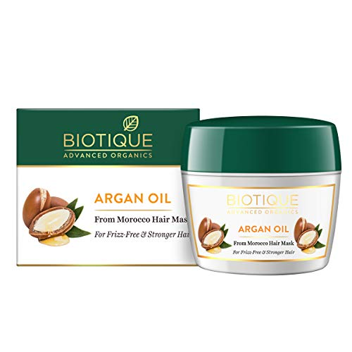 Biotique Argan Oil Hair Mask from Morocco (Ideal for Frizz -Free and Stronger Hair), 175g