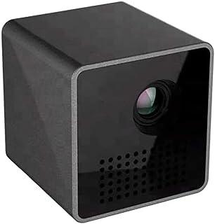 DZSF miniprojektor P1 Plus bärbar WiFi DLP-projektor HD-projektion med TF-kort, stöder 1080P