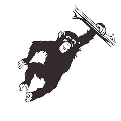 Gazechimp Calcomanía Mural de Arte de Pared de Vinilo con Patrón de Mono Gorila Negro para Sala de Estar Dormitorio