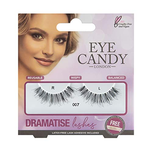 Eye Candy Strip Lashes 007 Dramatise 50's Look Natural False Lashes