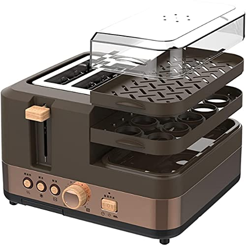 Toaster Oven 4 Slice, Multi-function Stainless Steel Finish With Timer - Toast - Bake - Broil Settings, Natural Convection - 1100 Watts Of Power, Includes Baking Pan And Rack air fryer