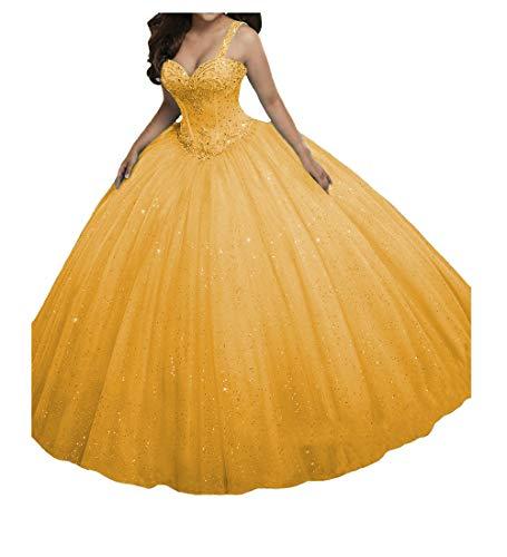 O.D.W Prinzessin A-Linie Paillette Lange M?dchen Quinceanera Kleider Formales Party Ballkleider...