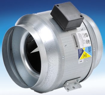 Fantech FKD 10XL - Tubeaxial or Duct Fan, Air Flow Rate In Range: 1000-1499, Speed: 2850RPM, Drive Type: Direct Drive