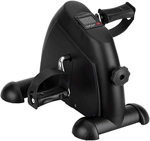 AGM Mini Pedal de Ejercicio para Bicicleta de Ejercicio para Brazos y Piernas con Pantalla LCD, Ciclo de Resistencia en Interiores (Negro)