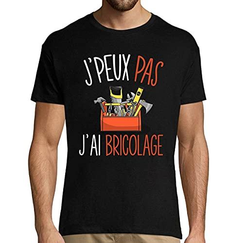 J'peux Pas J'Ai Bricolage | T-Shirt Homme Humour/Fun/Drôle Collection bricoleurs et bricoleuses Qui manient Les Outils à la Perfection XXL (Vêtements)